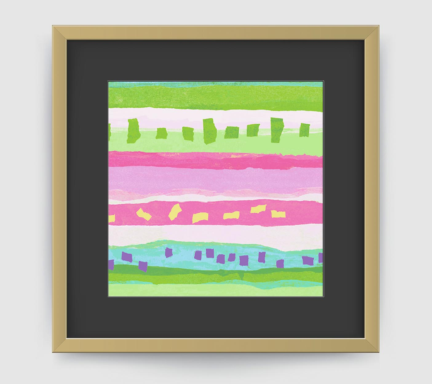 Confetti Pink Green Art Print - Abstract Art Wall Decor Collection-Di Lewis