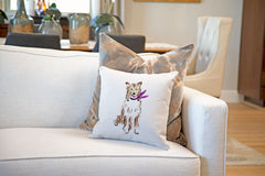 Conrad Collie Throw Pillow Cover - Dog Illustration Throw Pillow Cover Collection-Di Lewis