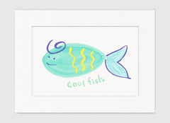 Cool Fish Art Print - Kids Wall Art Collection-Di Lewis