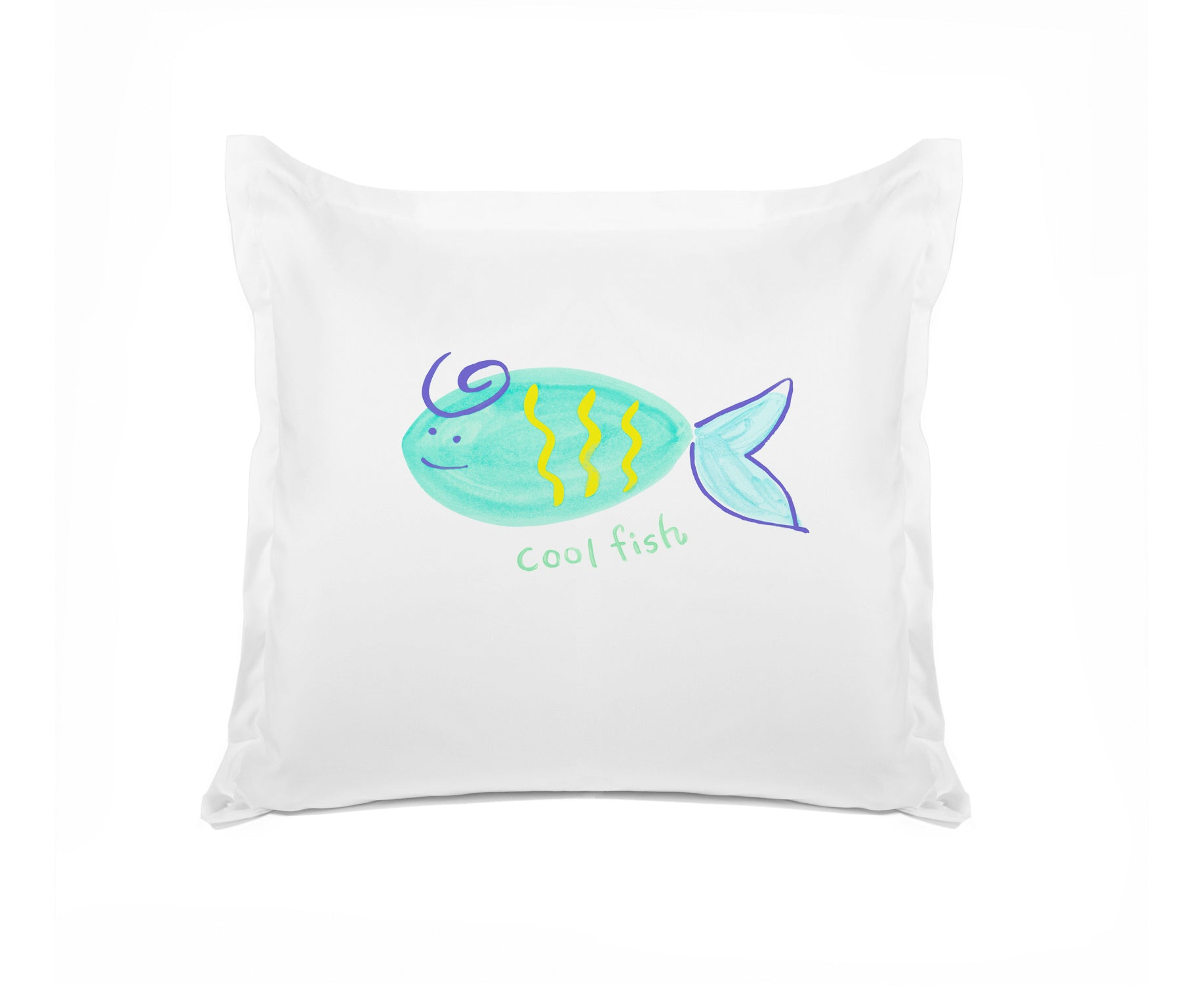 Cool Fish Personalized Kids Euro Sham Di Lewis Kids Bedroom Decor