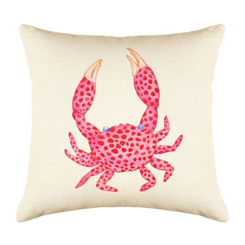Coral Crab Throw Pillow Cover - Coastal Designs Throw Pillow Cover Collection