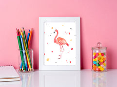 Fergie Flamingo Art Print - Animal Illustrations Wall Art Collection-Di Lewis