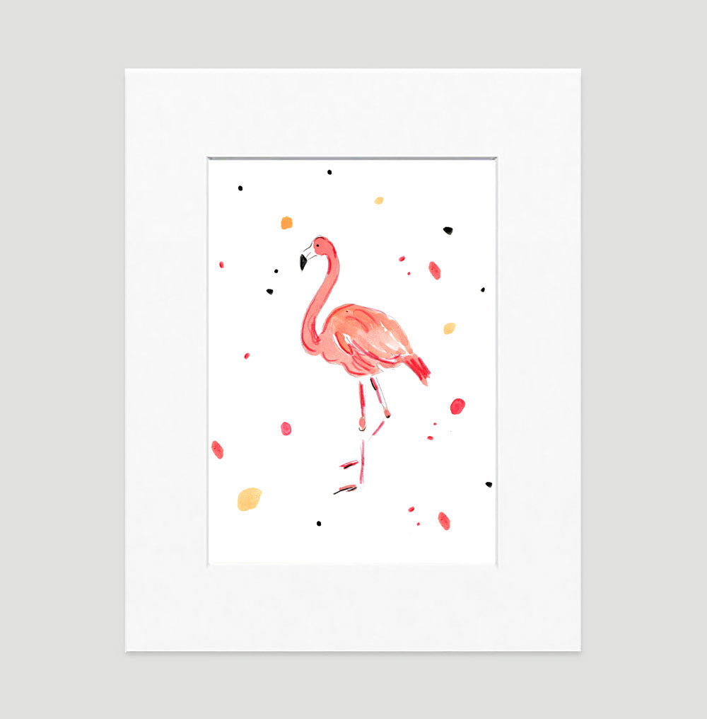 Fergie Flamingo Art Print