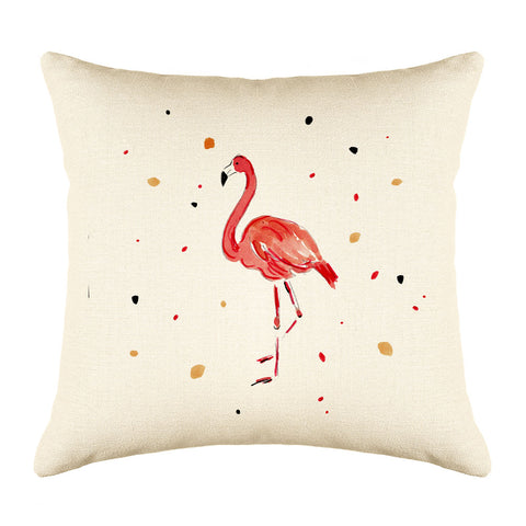 Fergie Flamingo Throw Pillow Cover - Animal Illustrations Throw Pillow Cover Collection