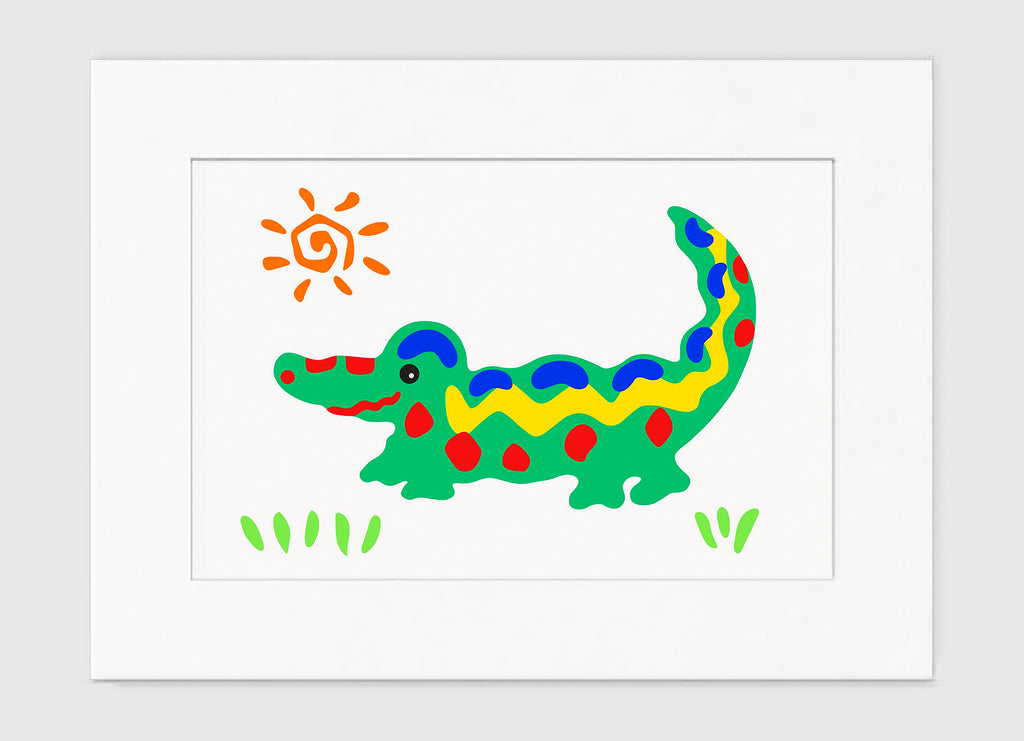 Crocodile Rock Art Print - Kids Wall Art Collection-Di Lewis
