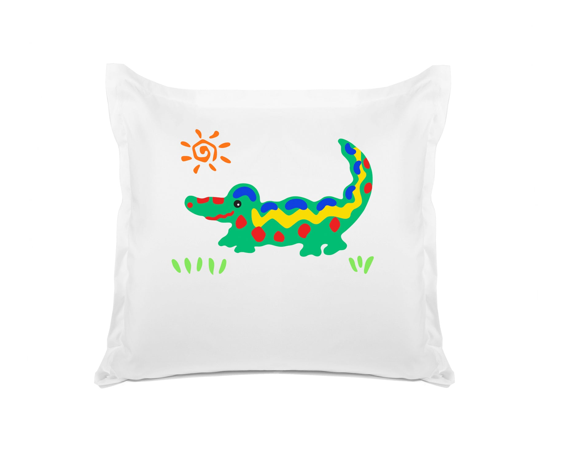 Crocodile Rock Personalized Kids Euro Sham Di Lewis Kids Bedding