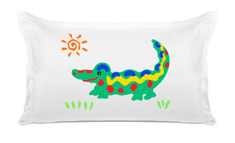 Crocodile Rock - Personalized Kids Pillowcase Collection-Di Lewis