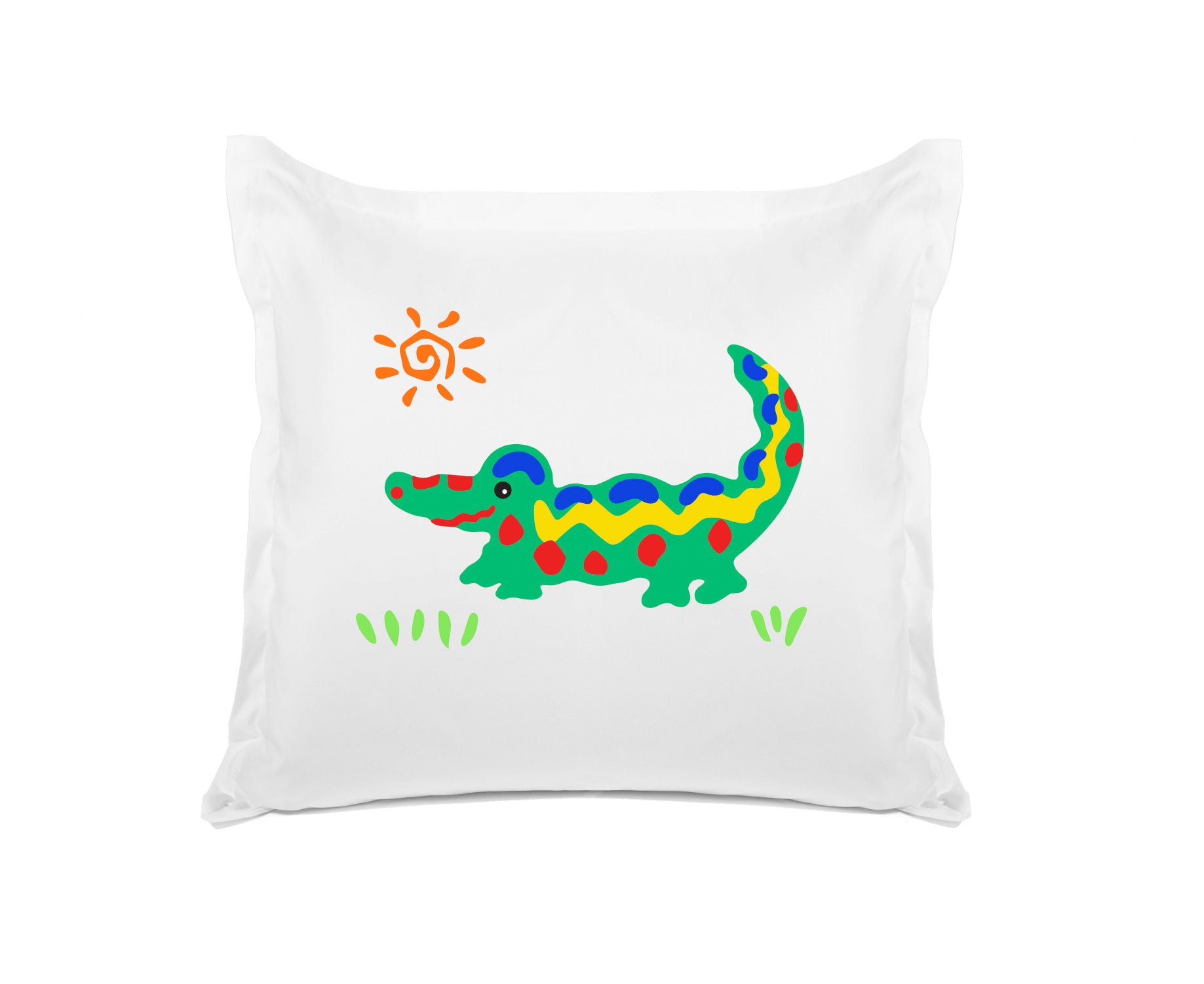 Crocodile Rock Kids Euro Sham Di Lewis Kids Bedding