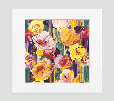 Delaunay Pink Gold Art Print - Impressionist Art Wall Decor Collection-Di Lewis