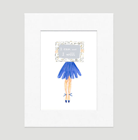 Determination Art Print - Fashion Illustration Wall Art Collection-Di Lewis