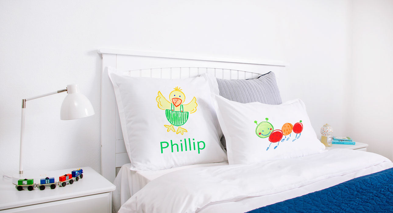 Dippy Duck - Personalized Kids Pillowcase Collection-Di Lewis