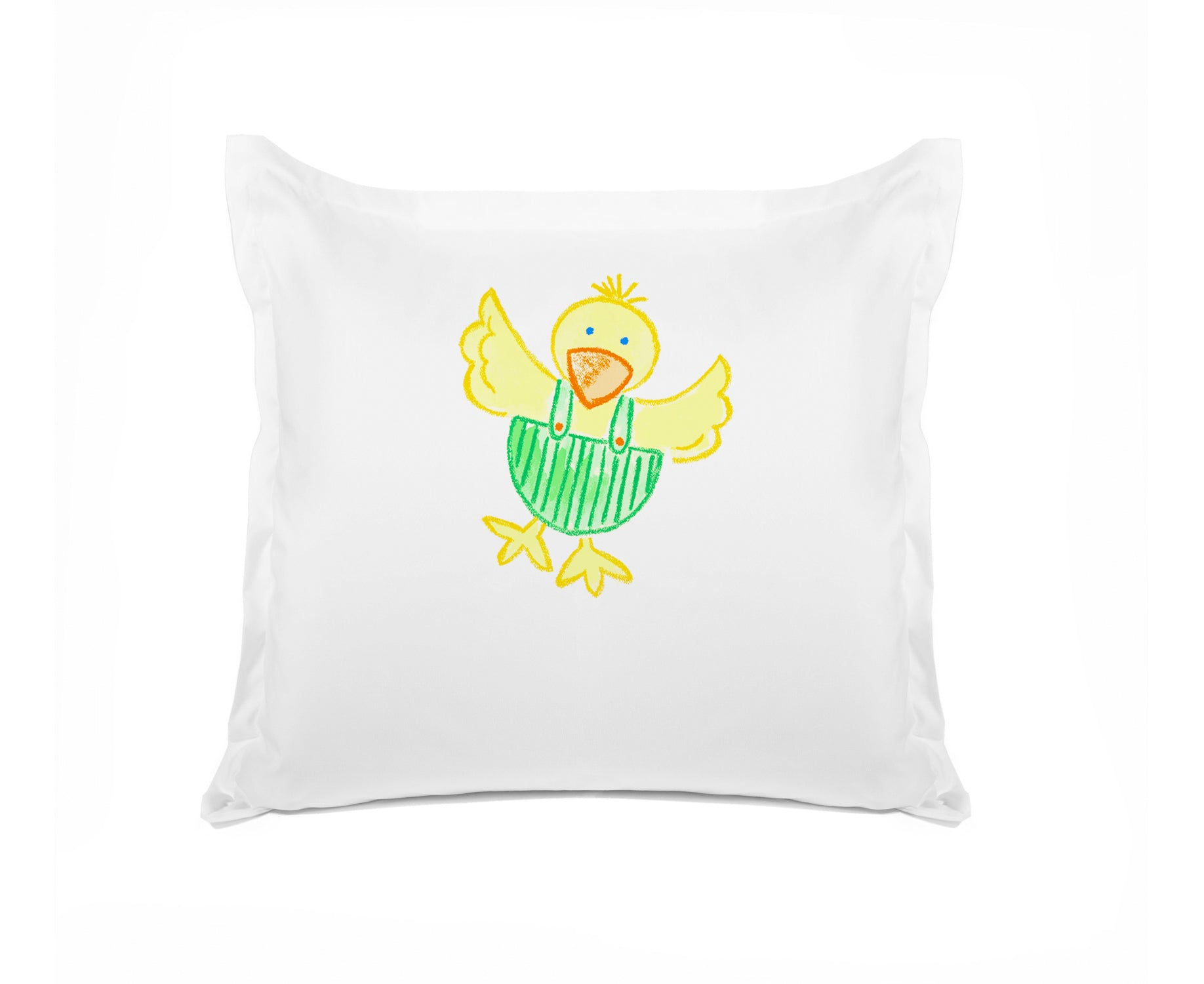 Dippy Duck Personalized Kids Euro Sham Di Lewis Kids Bedding