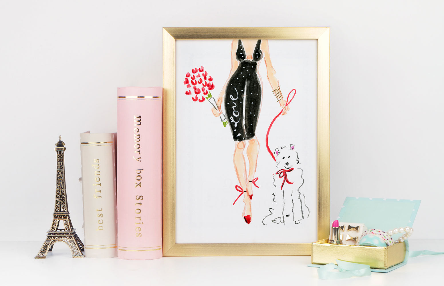 Dressed To Kill Art Print - Fashion Illustration Wall Art Collection-Di Lewis