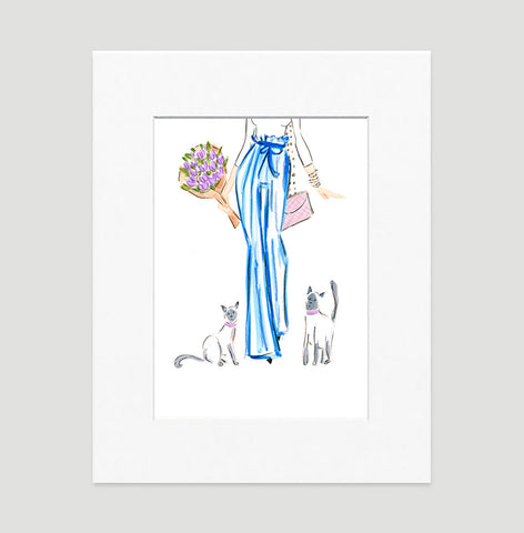 Dressed To Perfection Art Print - Fashion Illustration Wall Art Collection-Di Lewis