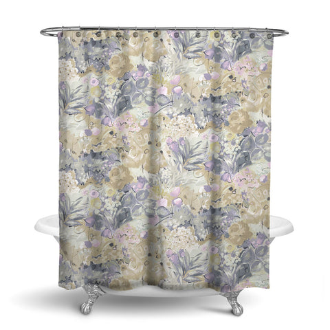 DUFY FLORAL SHOWER CURTAIN NATURAL – SHOWER CURTAIN COLLECTION