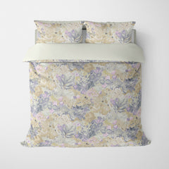 FLORAL DUVET COVERS & BEDDING SETS DUFY NATURAL - FLOWER DESIGN - HYPOALLERGENIC
