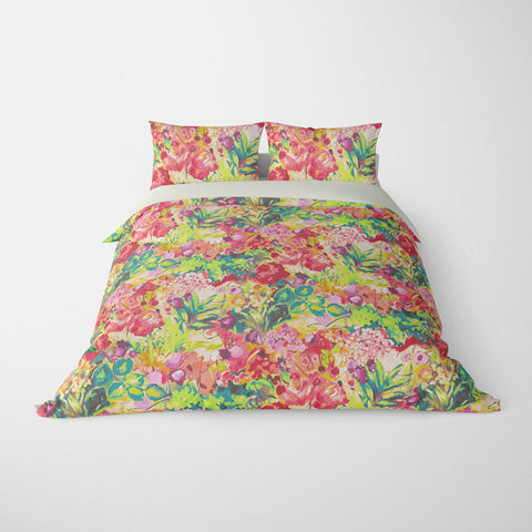FLORAL DUVET COVERS & BEDDING SETS DUFY TROPICAL - FLOWER DESIGN - HYPOALLERGENIC