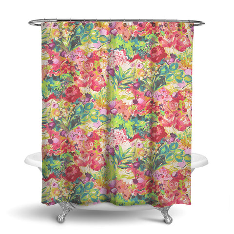 DUFY - FLORAL SHOWER CURTAIN - TROPICAL - FLOWER DESIGN