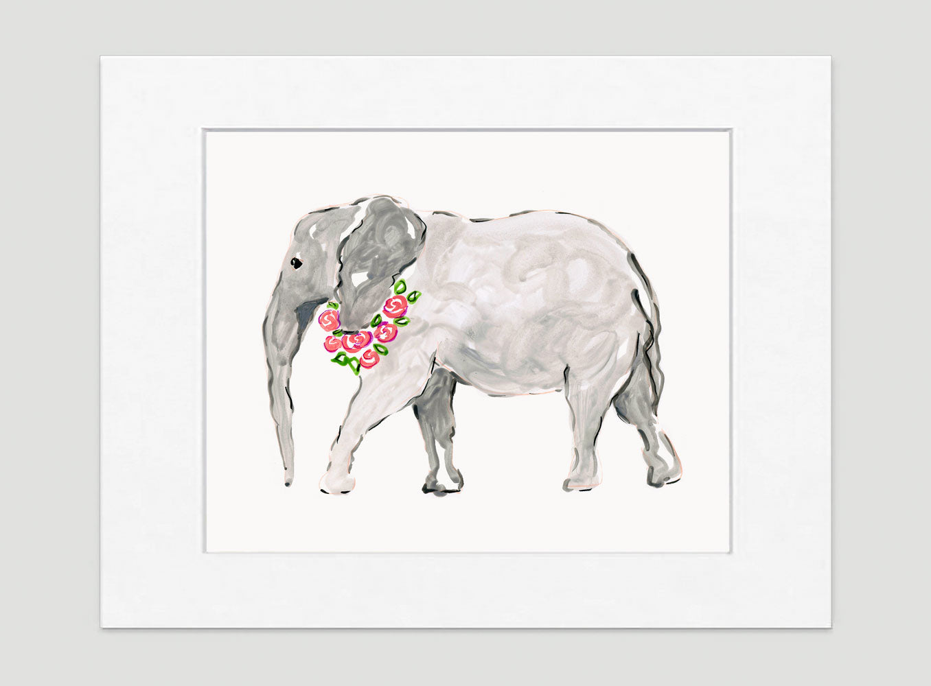 Ella Elephant Art Print - Animal Illustrations Wall Art Collection-Di Lewis