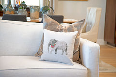 Ella Elephant Throw Pillow Cover - Animal Illustrations Throw Pillow Cover Collection-Di Lewis