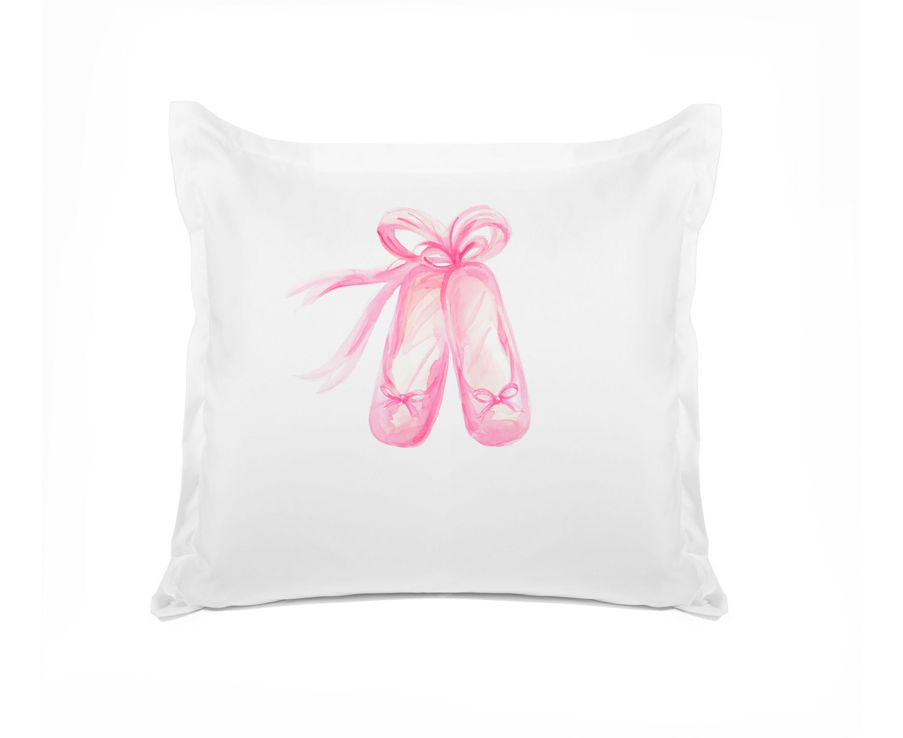 En Pointe Kids Personalized Euro Sham Di Lewis Kids Bedding, Ballerina Bedding