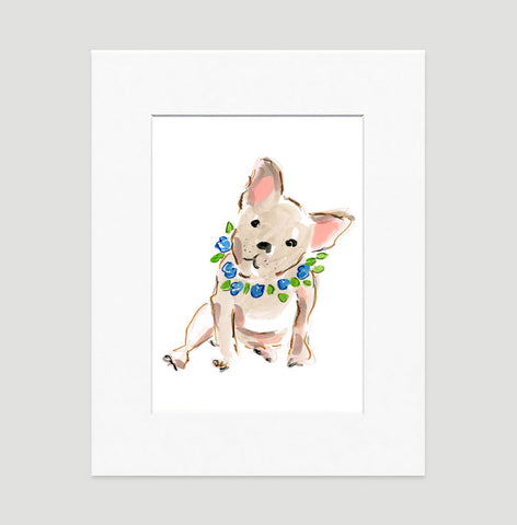 Benny Bulldog Art Print - Dog Illustrations Wall Art Collection-Di Lewis