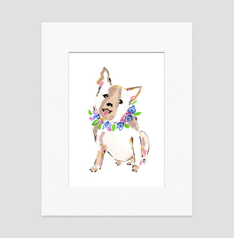 Brandy Bulldog Art Print - Dog Illustrations Wall Art Collection-Di Lewis