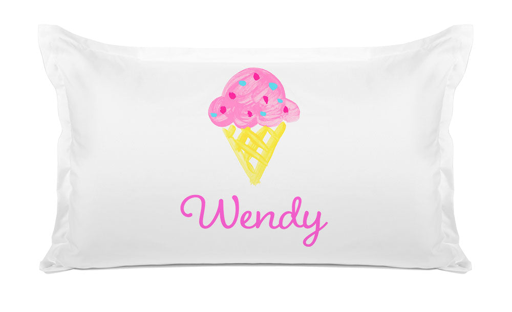Ice Cream Cone - Personalized Kids Pillowcase Collection