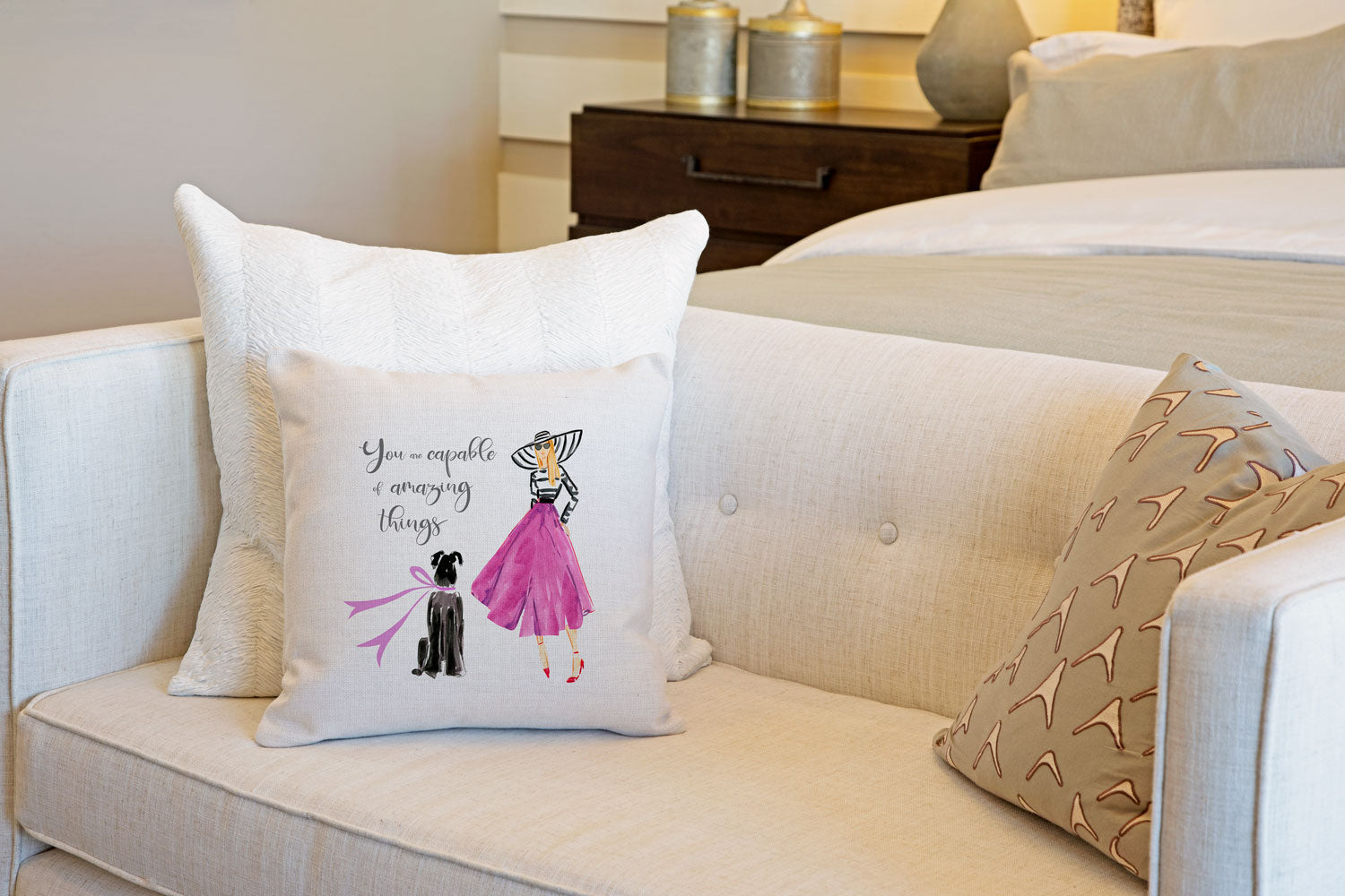 Fabulous Me Throw Pillow Cover - Dog Illustration Throw Pillow Cover Collection-Di Lewis