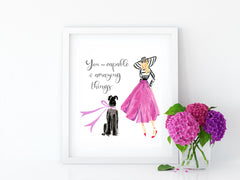 Fabulous Me Art Print - Fashion Illustration Wall Art Collection-Di Lewis