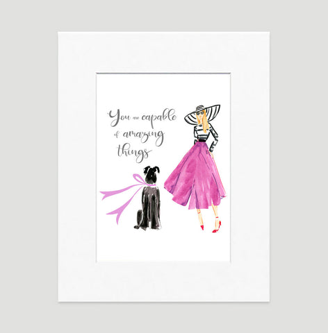 Fabulous Me Art Print - Fashion Illustration Wall Art Collection-Matted-Di Lewis
