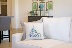 Fashionista Blue Green Throw Pillow Cover