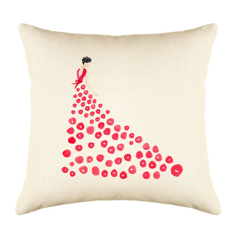 Fashionista Red Throw Pillow Cover