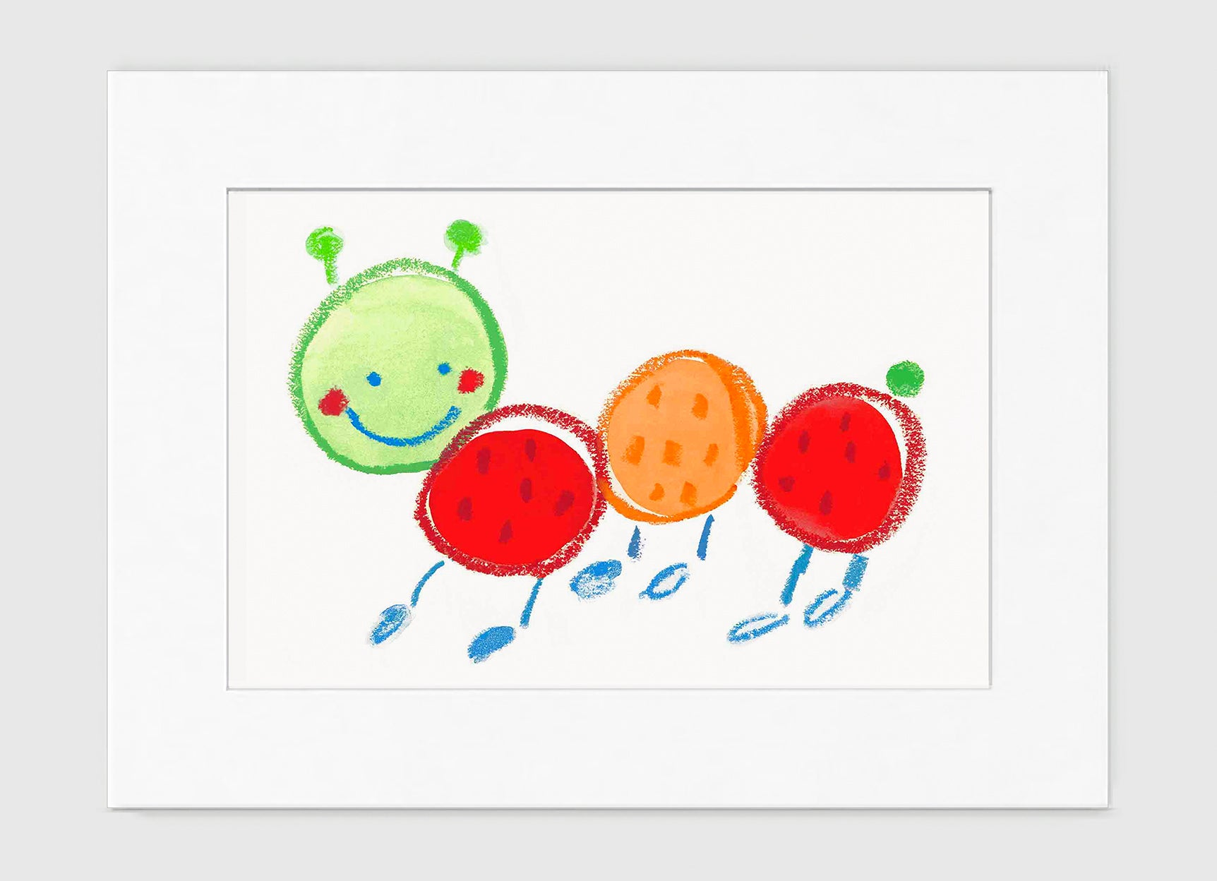 Fernando Caterpillar Art Print - Kids Wall Art Collection-Di Lewis