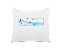 Fish Notes Personalized Kids Euro Sham Di Lewis Kids Bedding
