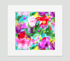 Fleur Impressionist Art Print Di Lewis Living Room Wall Decor