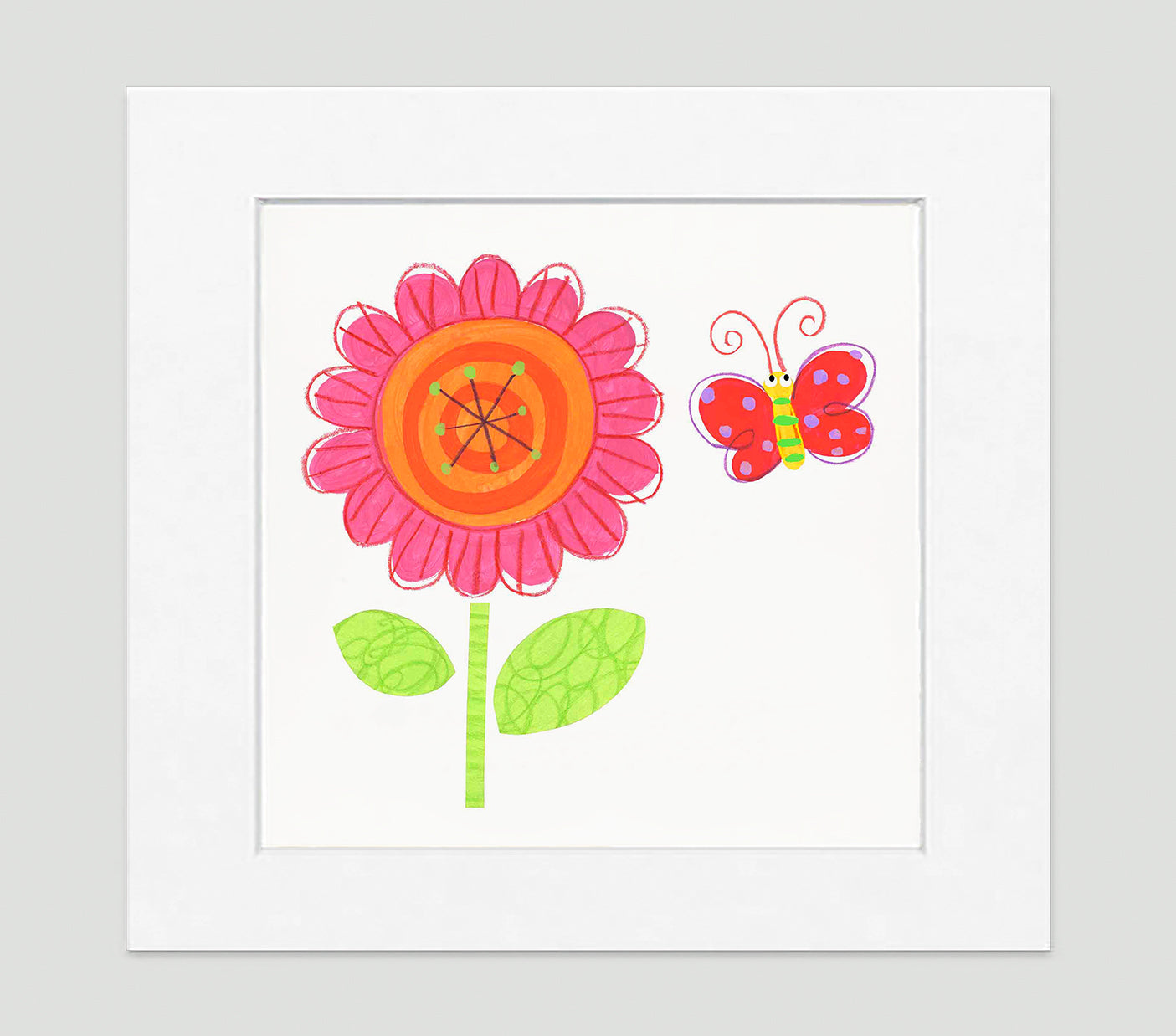 Flower Power Art Print - Kids Wall Art Collection-Di Lewis