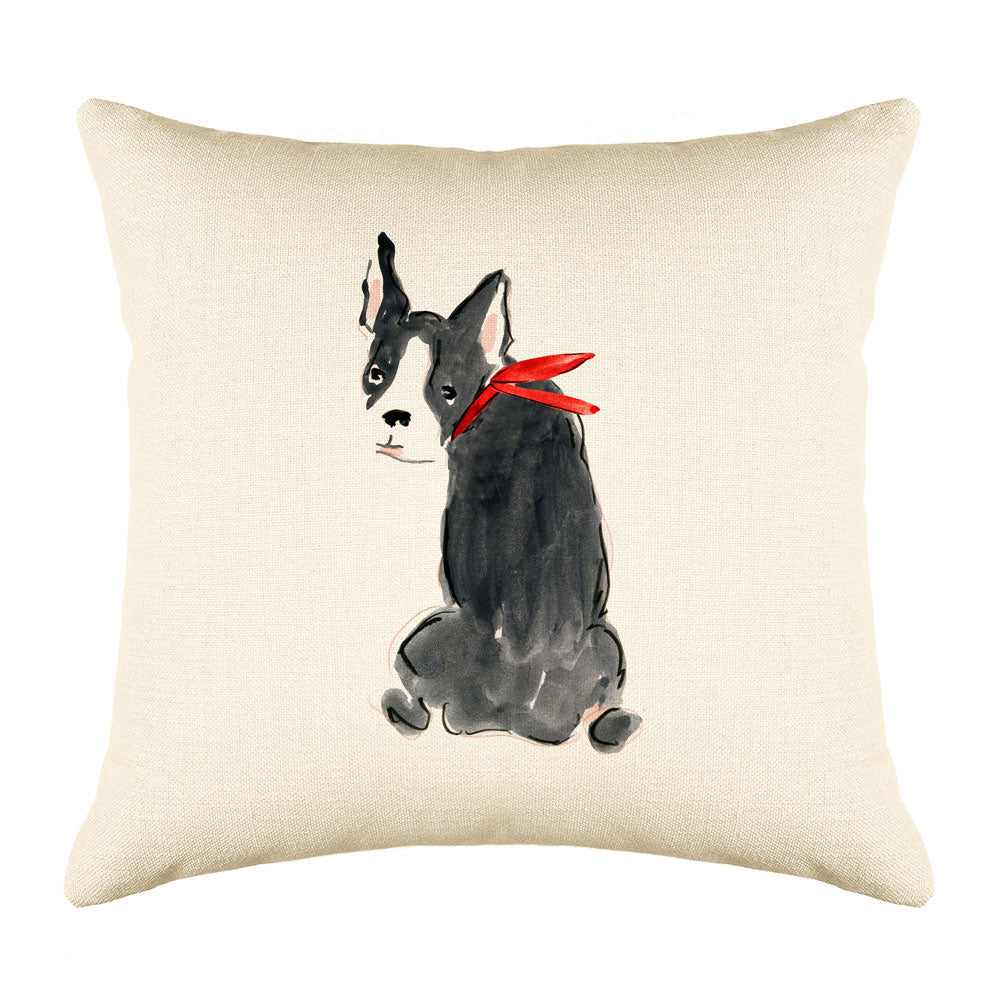 Bailey Bulldog Throw Pillow Cover - Dog Illustration Throw Pillow Cover Collection