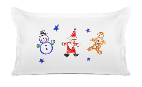 Frosty, Santa And Ginger - Kids Personalized Pillowcase Collection-Di Lewis