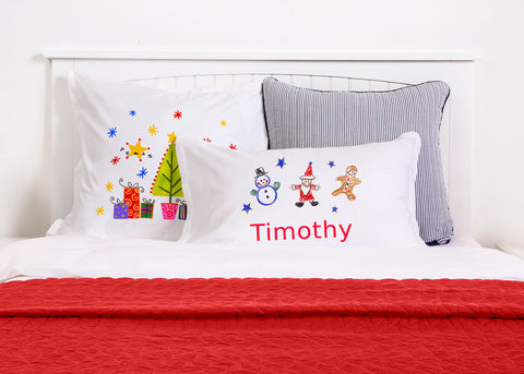Frosty, Santa And Ginger Pillow Cases