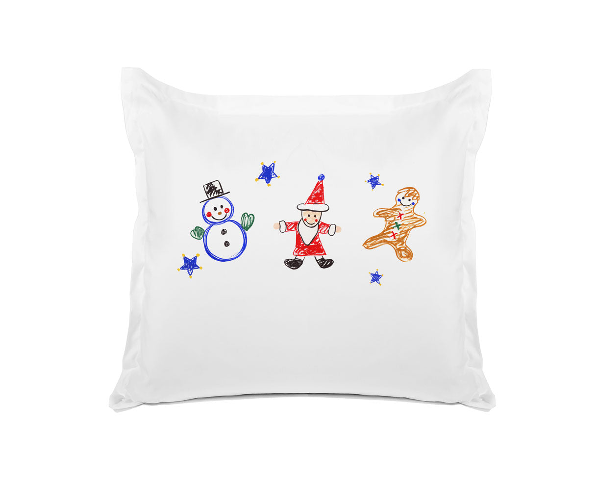 Frosty, Santa And Ginger - Kids Personalized Pillowcase Collection