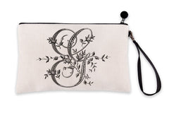 Vintage French Monogram Letter G Makeup Bag