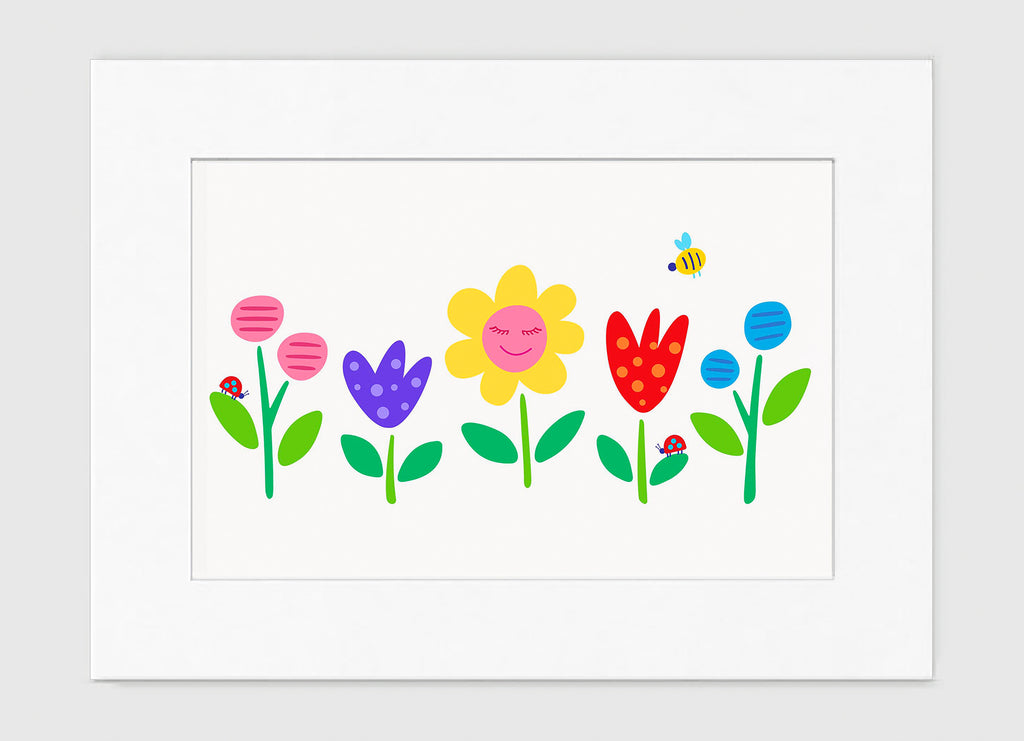 Garden Party Art Print - Kids Wall Art Collection-Di Lewis