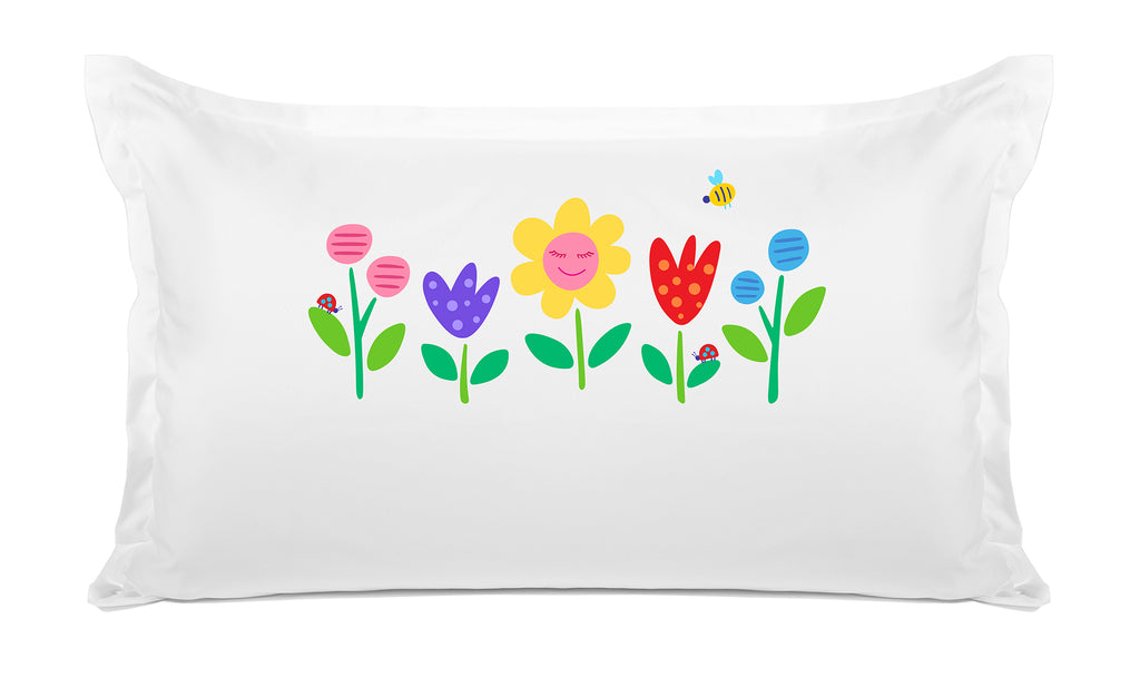 Garden Party Personalized Kids Pillow case, Di Lewis Kids Bedding