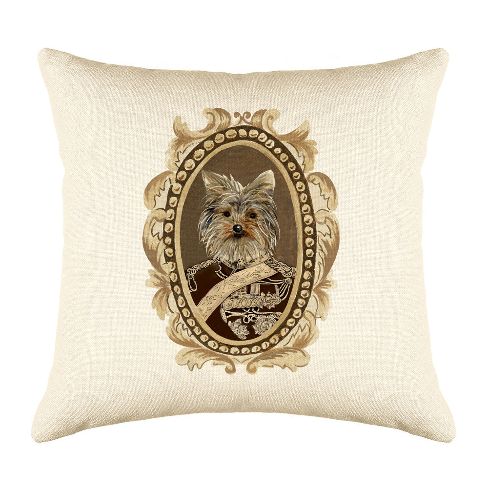 General Yorkie Throw Pillow Cover - Dog Illustration Throw Pillow Cover Collection-Di Lewis