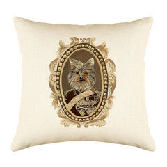 General Yorkie Throw Pillow Cover