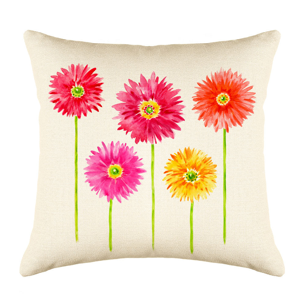 Gerbera Throw Pillow Cover - Decorative Designs Throw Pillow Cover Collection