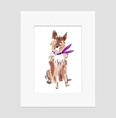 Sammy German Shepard Art Print - Dog Illustrations Wall Art Collection-Di Lewis