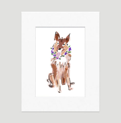 Sasha German Shepard Art Print - Dog Illustrations Wall Art Collection-Di Lewis