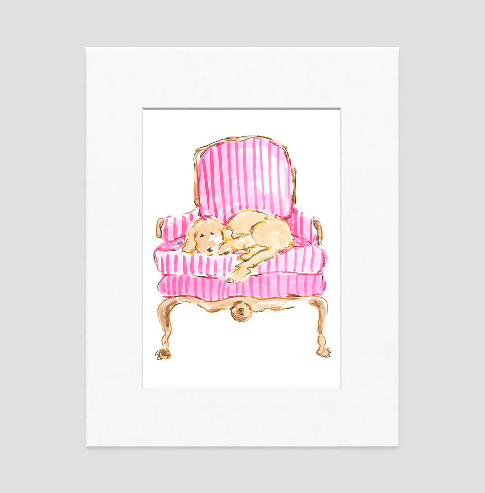 Ginger Art Print - Dog Illustrations Wall Art Collection